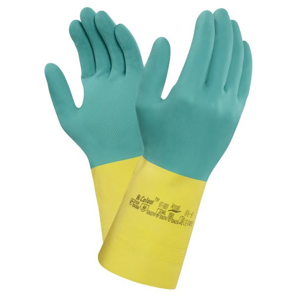 Ansell Chemikalienschutzhandsch Bi-Color  Gr. 7,5 - 8
