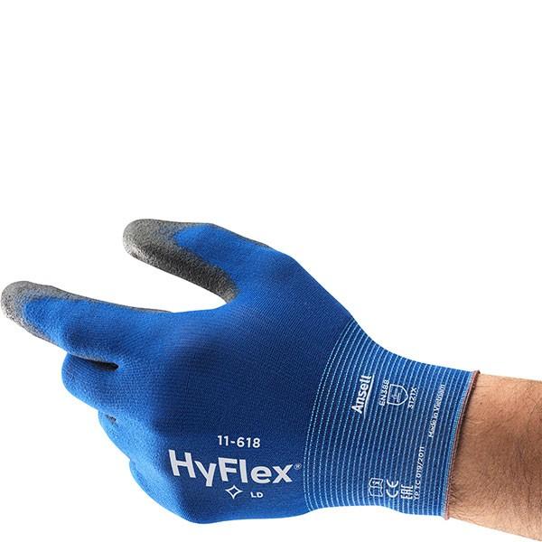 Ansell Hyflex Schutzhandschuh 11-618 Gr. 8