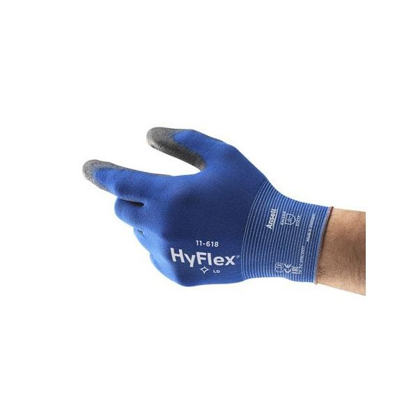Ansell Hyflex Schutzhandschuh 11-618 Gr. 9