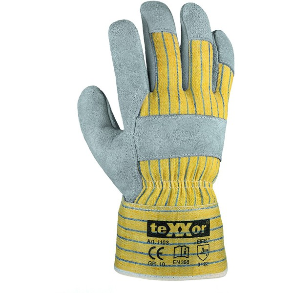 Rindkernspaltleder-Handschuhe Gr.10