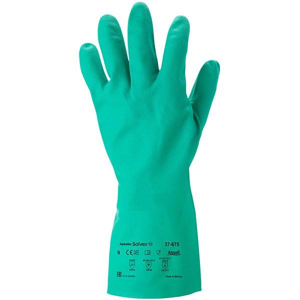 Ansell Chemikalienschutzhandschuhe Sol-Vex 37-675 Gr. 10