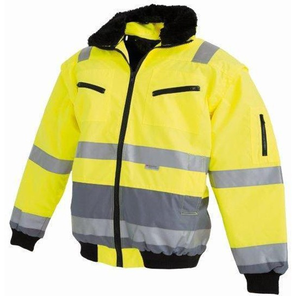 Watex Warnschutz-Pilotenjacke Gr. 2XL leuchtgelb / grau