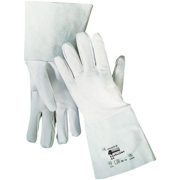 5-Finger-Schweißerhandschuhe mit Stulpe Gr. 10