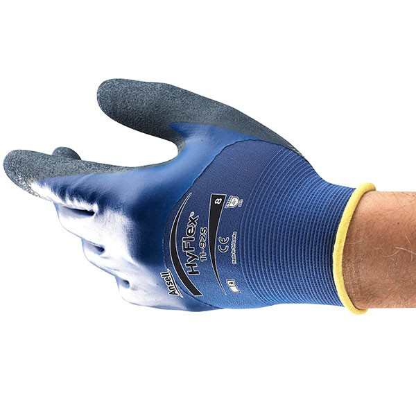 Ansell HyFlex 11-925, blau, Gr. 8