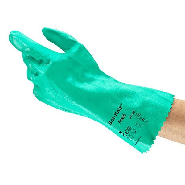 Ansell Chemikalienschutzhandschuhe Sol-Knit 39-122 Gr. 9