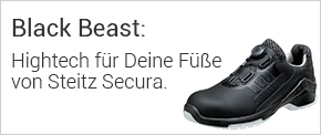 Sicherheitsschuh Black Beast von Steitz Secura